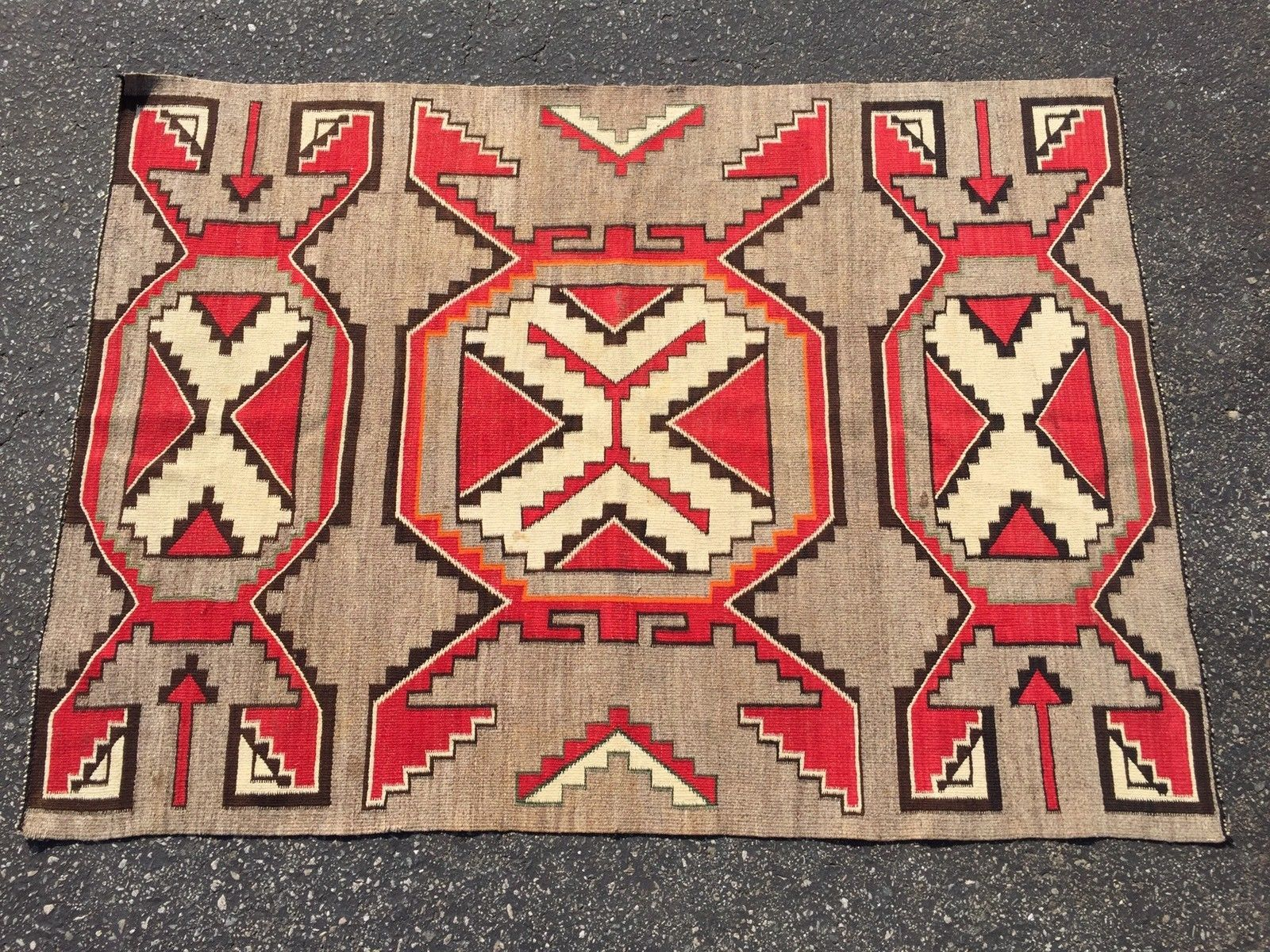 Beautiful Highly Bold And Graphic Super Fine Weave Good Age Pre 1920 Navajo Rugsmexican Rugblankets