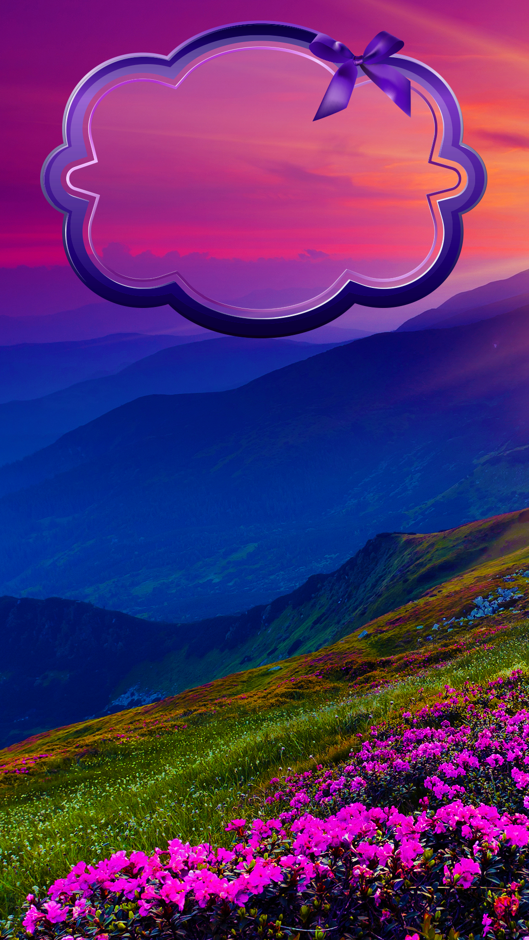 Lockscreens Art Creative Nature Mountain Flowers Sunset HD IPhone 6 Plus Lock Screen