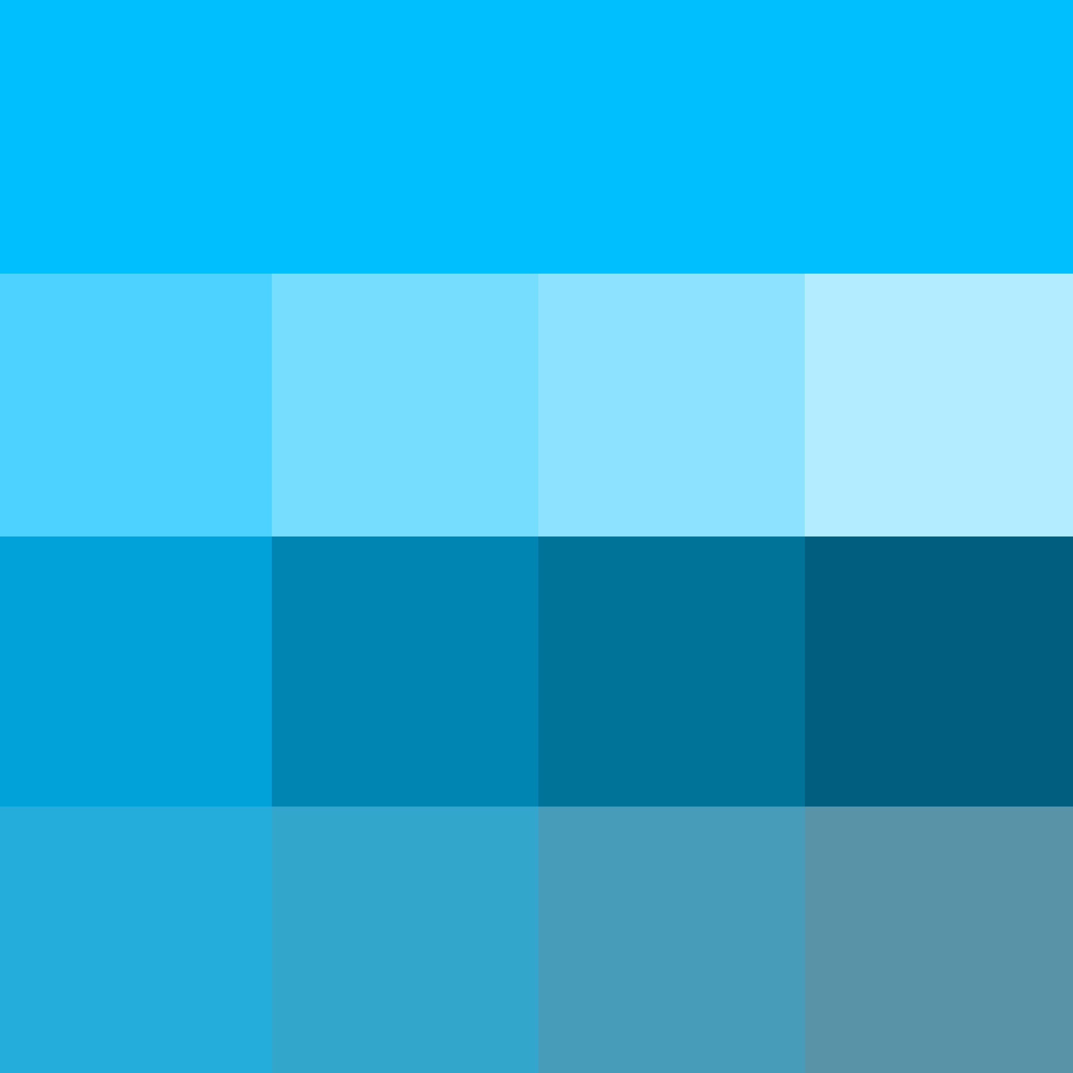 Deep Sky Blue Web Hue Pure Color With Tints Hue White