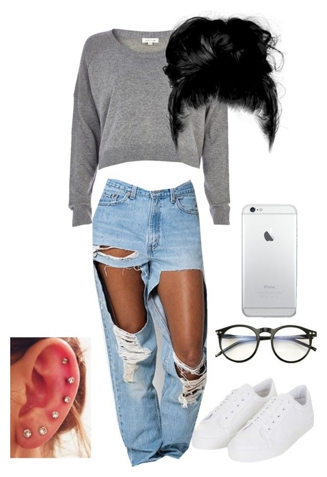 """Untitled #6"" by briannaolove ❤ liked on Polyvore featuring River Island, Wildfox, Topshop and Levi's"