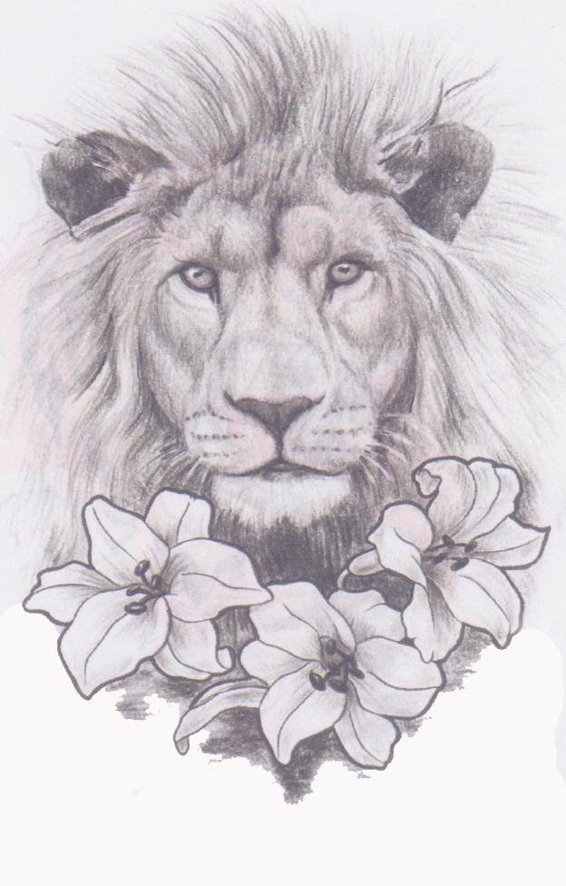 Lion In The Lilies Tattoo Expo Kelli Moleres Cizim Cizimler Tattoo