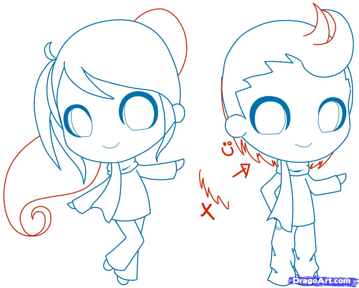 draw chibi person step