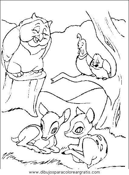 dibujos_animados/bambi/bambi45.JPG | Dibujos para colorear con ...