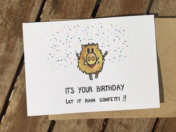 Funny birthday card - happy birthday - confetti - celebrations ...