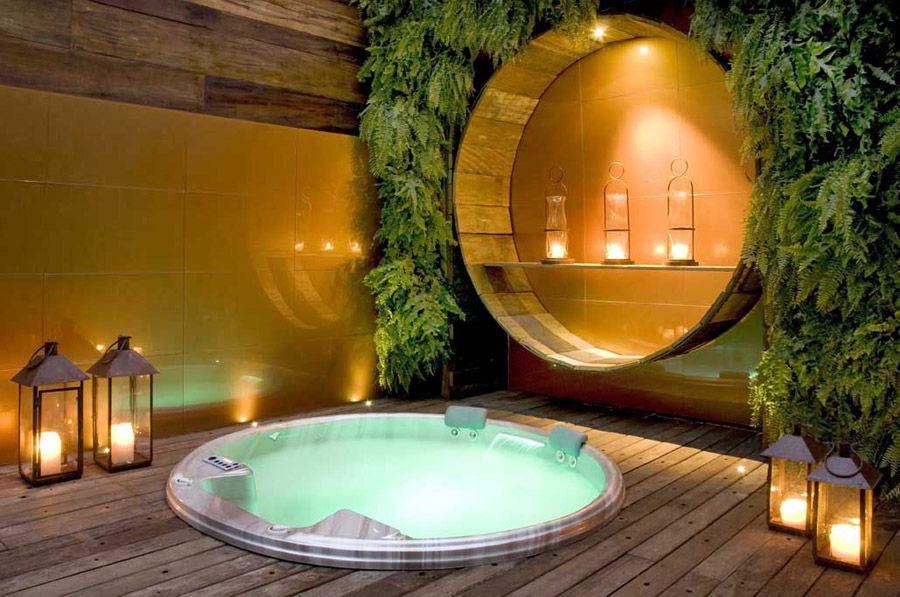 Home Spa idealike the floorboards and the