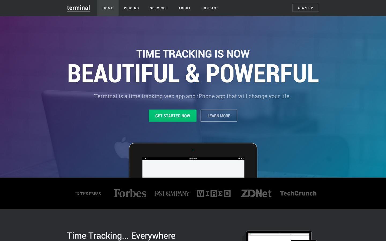 terminal business website template meteorsites websitesterminal