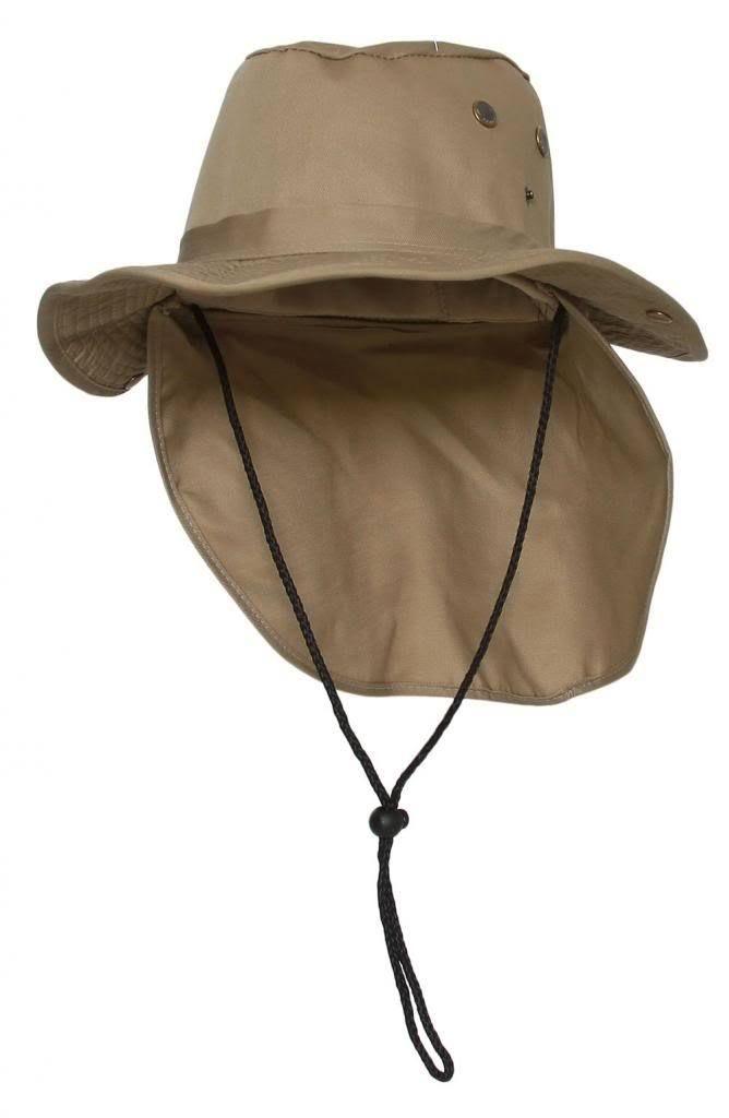 7d2f25cb30b Gravity Trading - Top Headwear Safari Explorer Bucket Hat With Flap Neck  Cover - Khaki