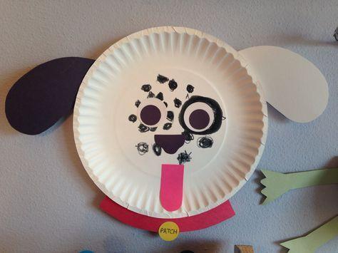 Dalmatian Paper Plate Craft - Dog Craft - Preschool Craft
