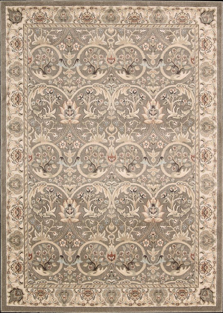 5x8 5 3 X 7 4 William Morris Arts Crafts Mission Style Gray