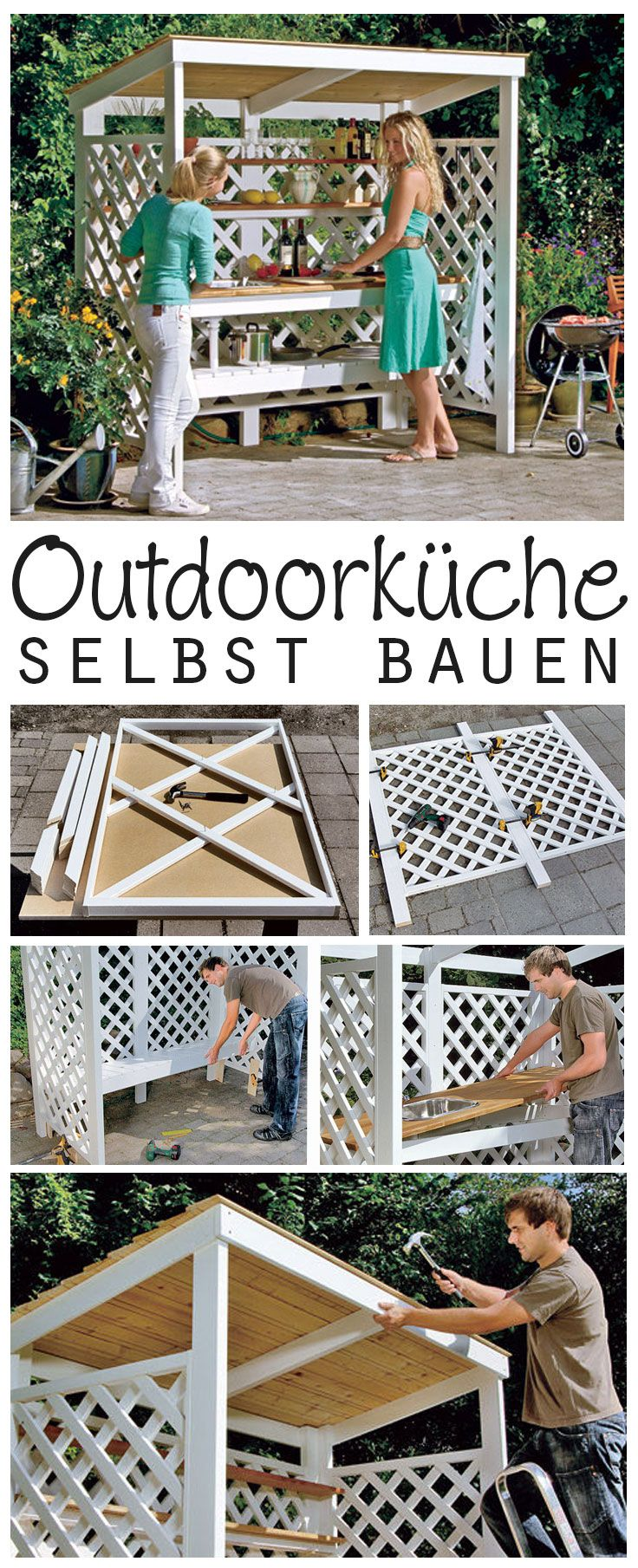 Outdoork che selber bauen garten build outdoor kitchen for Outdoor kitchen selber bauen