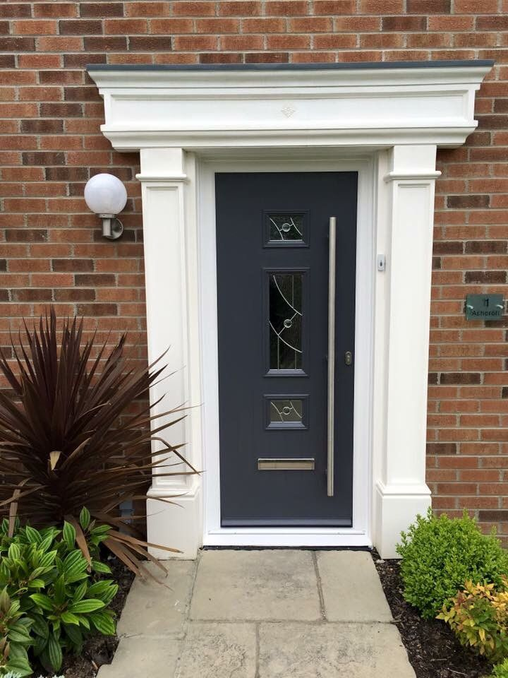 Anthracite Grey Virtuoso Door With Stainless Steel Bar