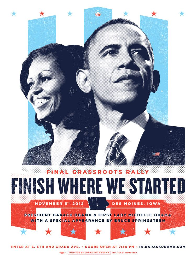 Posters for various rallies and events during Barack Obama ... Obama Campaign Poster Official