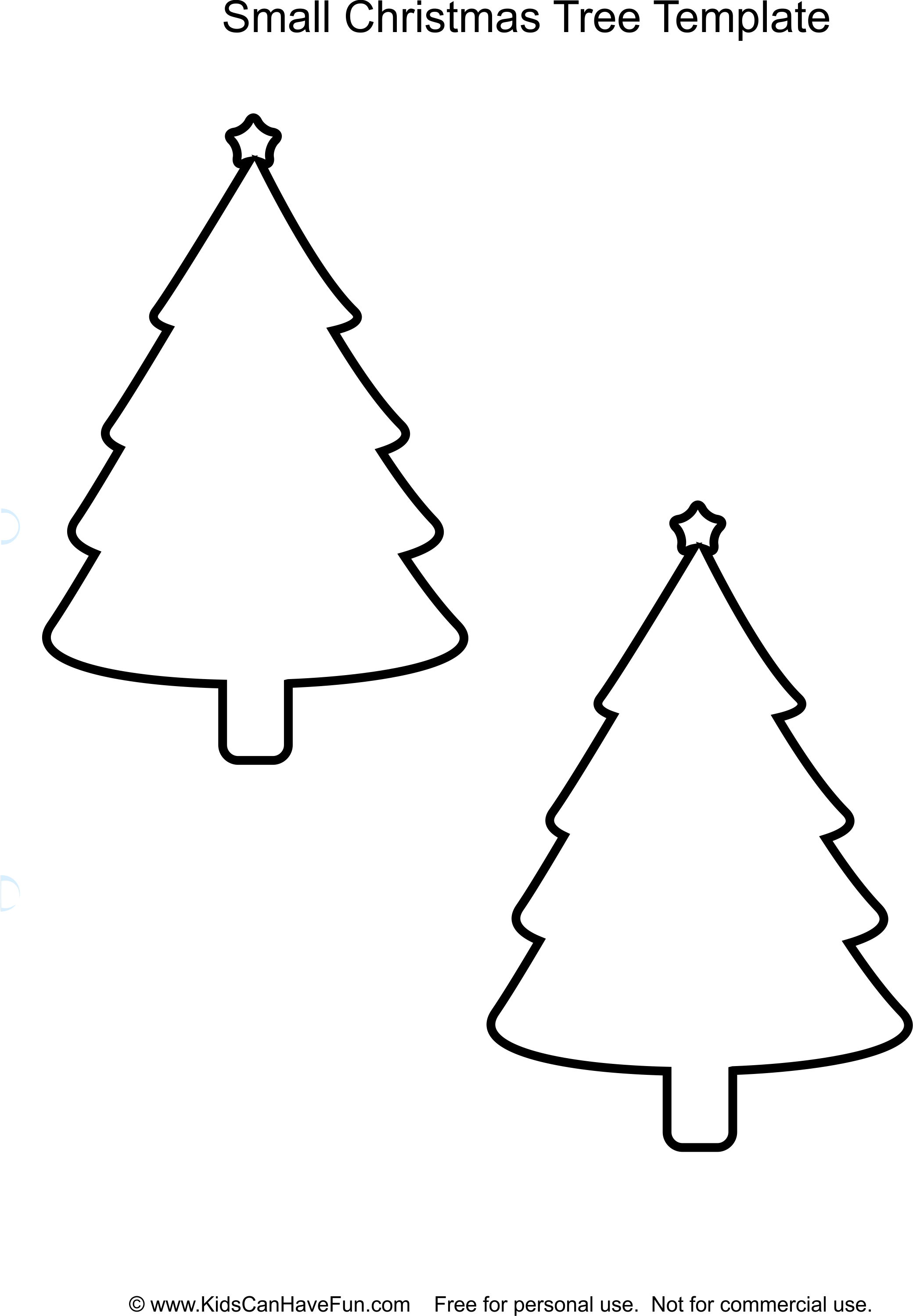 cut out christmas trees