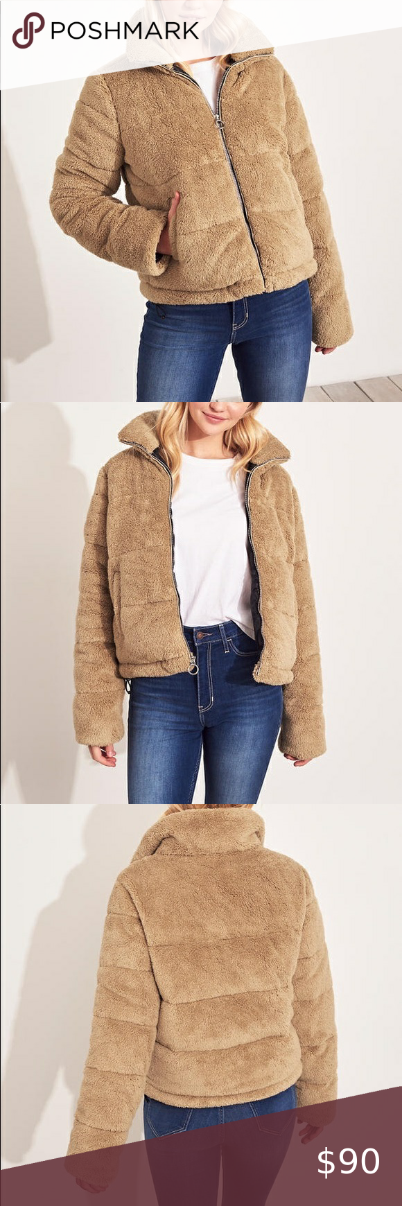 New Cozy Mockneck Puffer Jacket Clothes Design Fashion Puffer Jackets [ 1740 x 580 Pixel ]