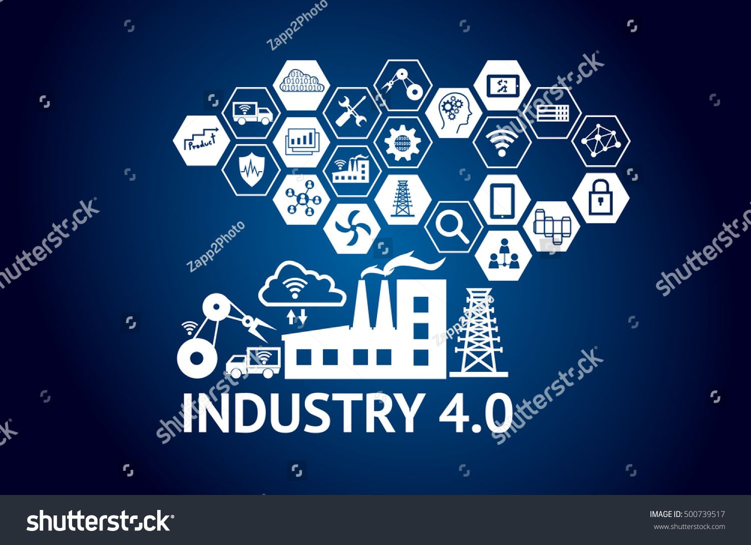 Industrial 4 0 Cyber Physical Systems Concept Icon Of Industry 4 0 Internet Of Things Net Social Media Design Graphics Cyber Physical System 3d Illustration