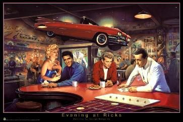 Marilyn Monroe Elvis Presley James Dean Humphrey Bogart I Love