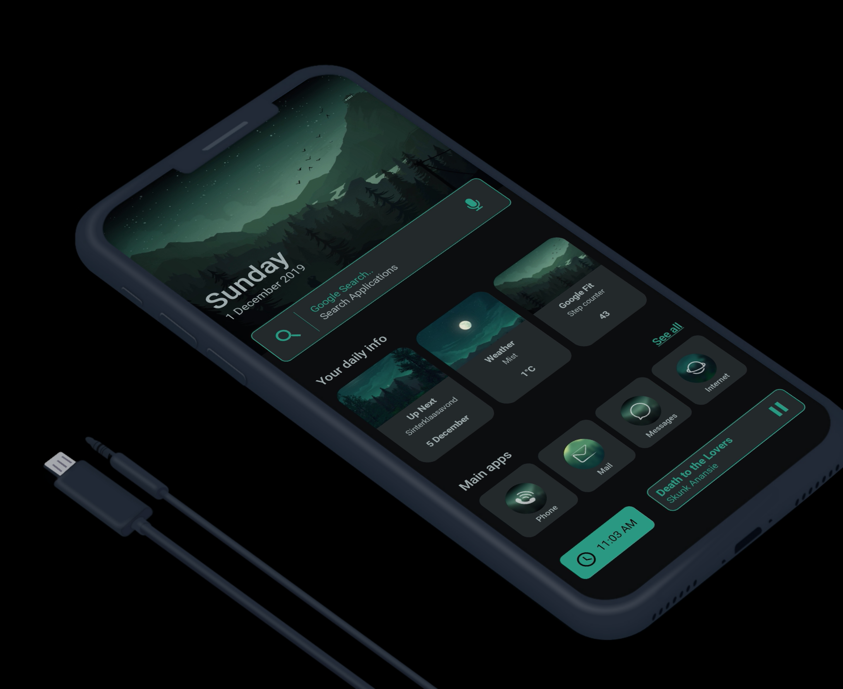 FireWatch Green Themes for mobile, Best theme for