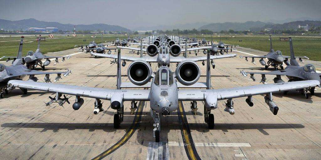 So much beauty! F16's & A-10 Thunderbolts