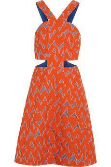 Markus Lupfer Lyla cutout cotton-blend jacquard mini dress | NET-A-PORTER