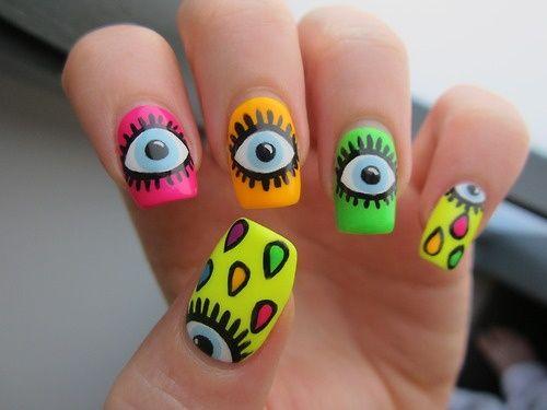 Cryin eyes in neons