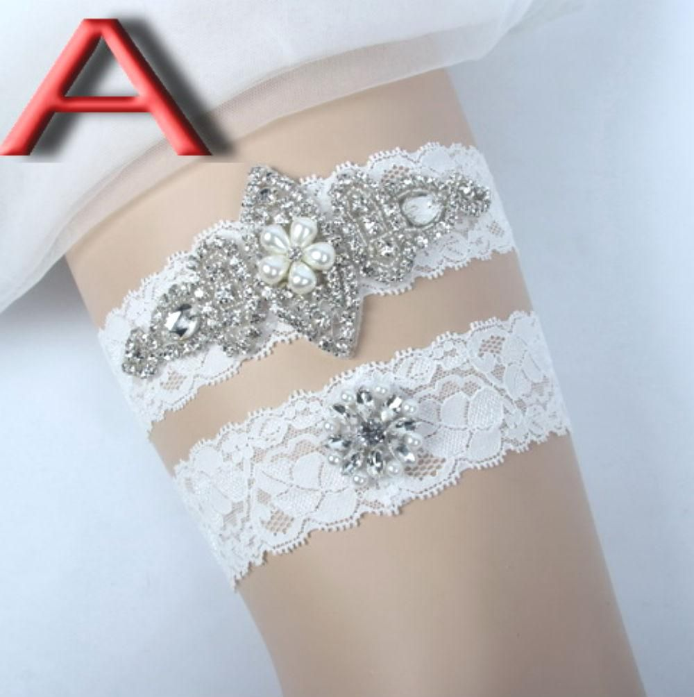 Wedding Garter Set With Rhinestones
