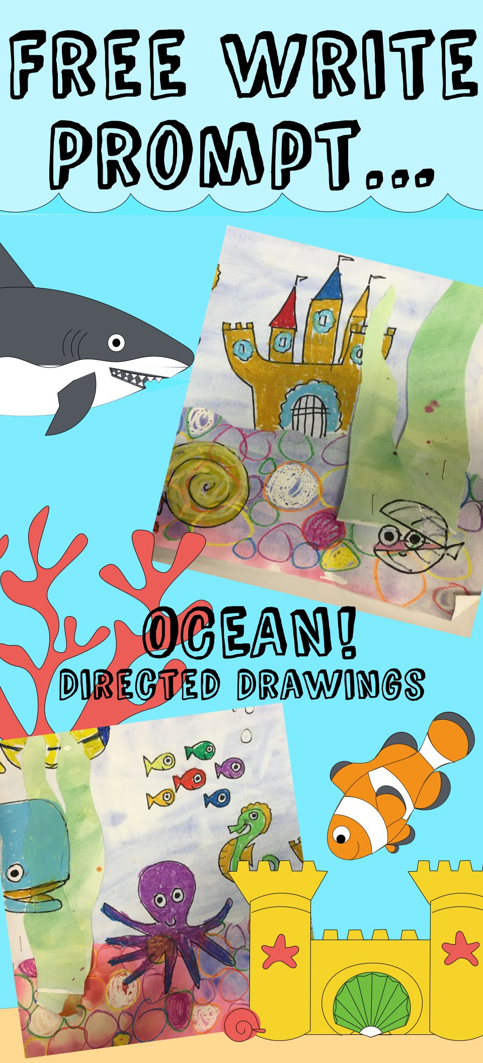 Ocean Guided Drawings Drawings, Directed drawing