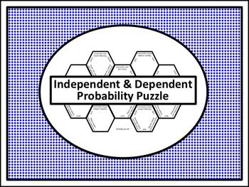 Independent Dependent Probability Puzzle | Teaching Ideas ...
