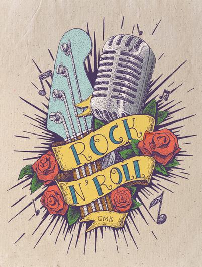 Rock N Roll Tattoo Tatuagem De Rock Desenho Rock Tatuagens Rockabilly