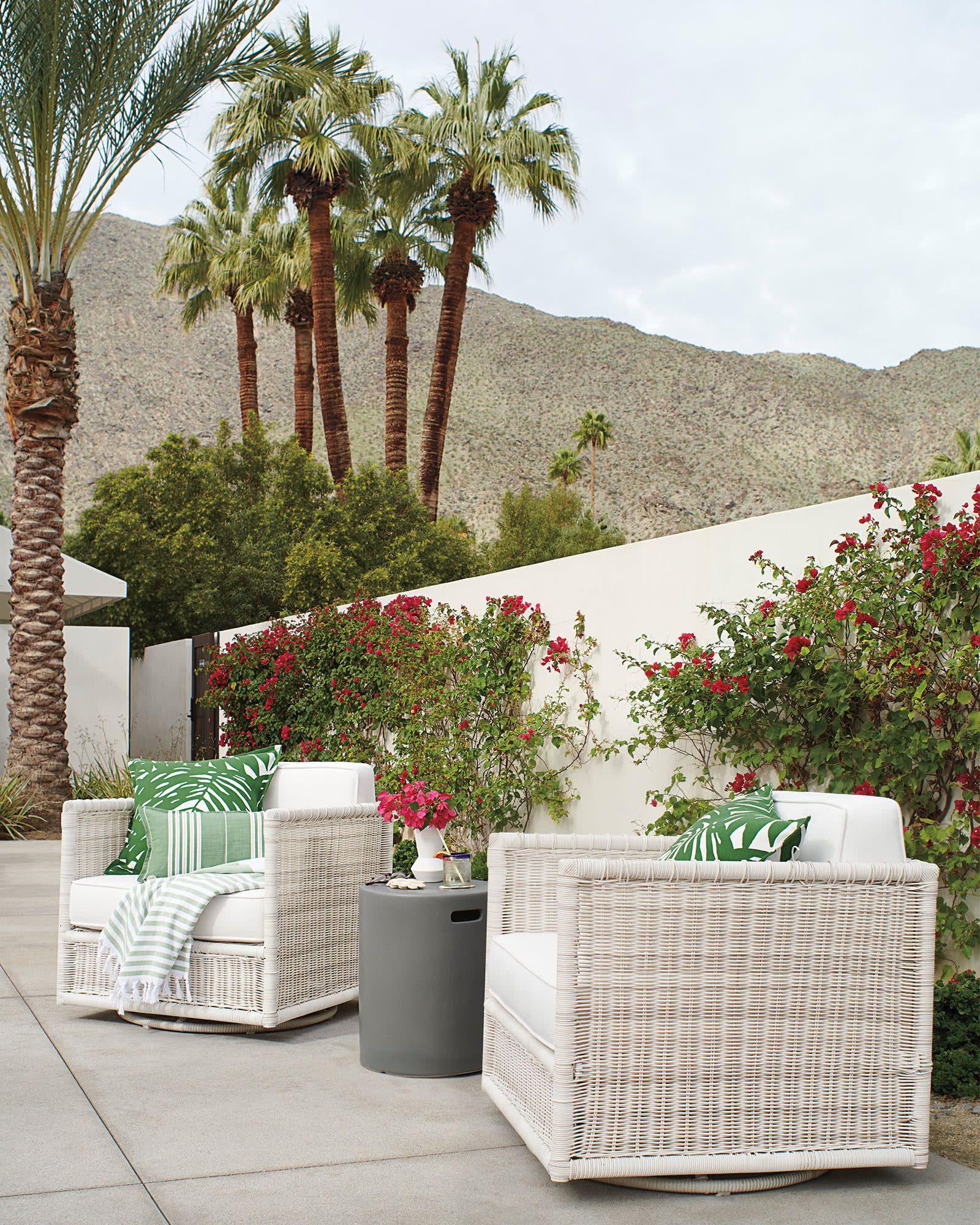 Palm Pillow Cover Con Imagenes Terraza Jardin Terrazas Jardines