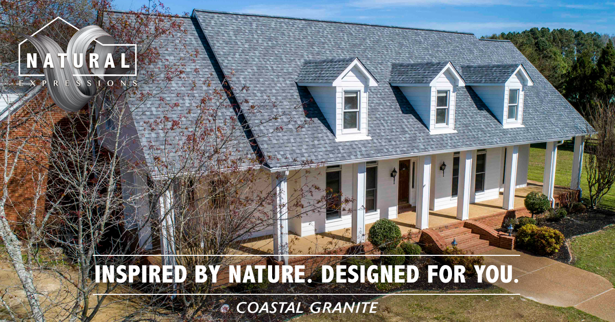 Natural Expressions Coastal Granite Architectural Shingles Roofing Roof Shingles