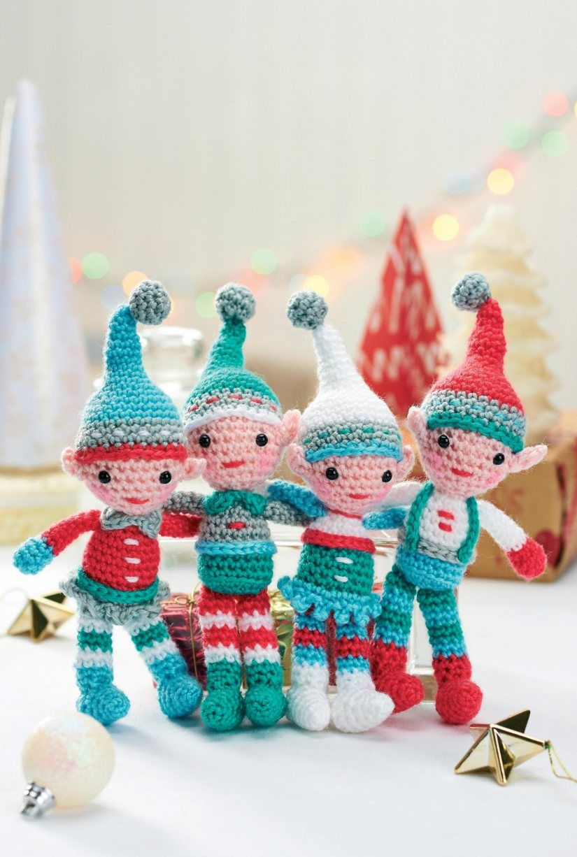 Crochet an elf 23 free patterns grandmothers pattern book a family of crocheted christmas elves free crochet pattern they sure are cuties bankloansurffo Choice Image
