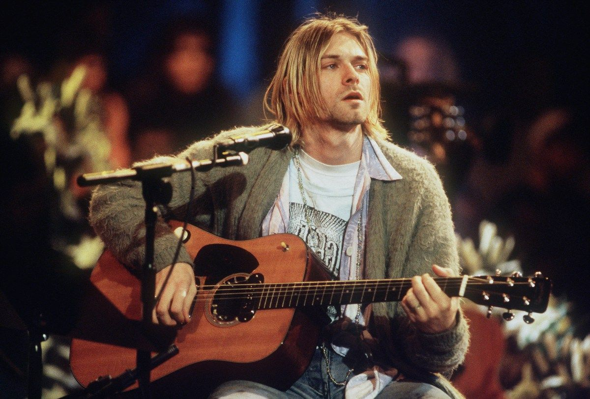 "Image result for photos from NIRVANA - "" MTV Unplugged"