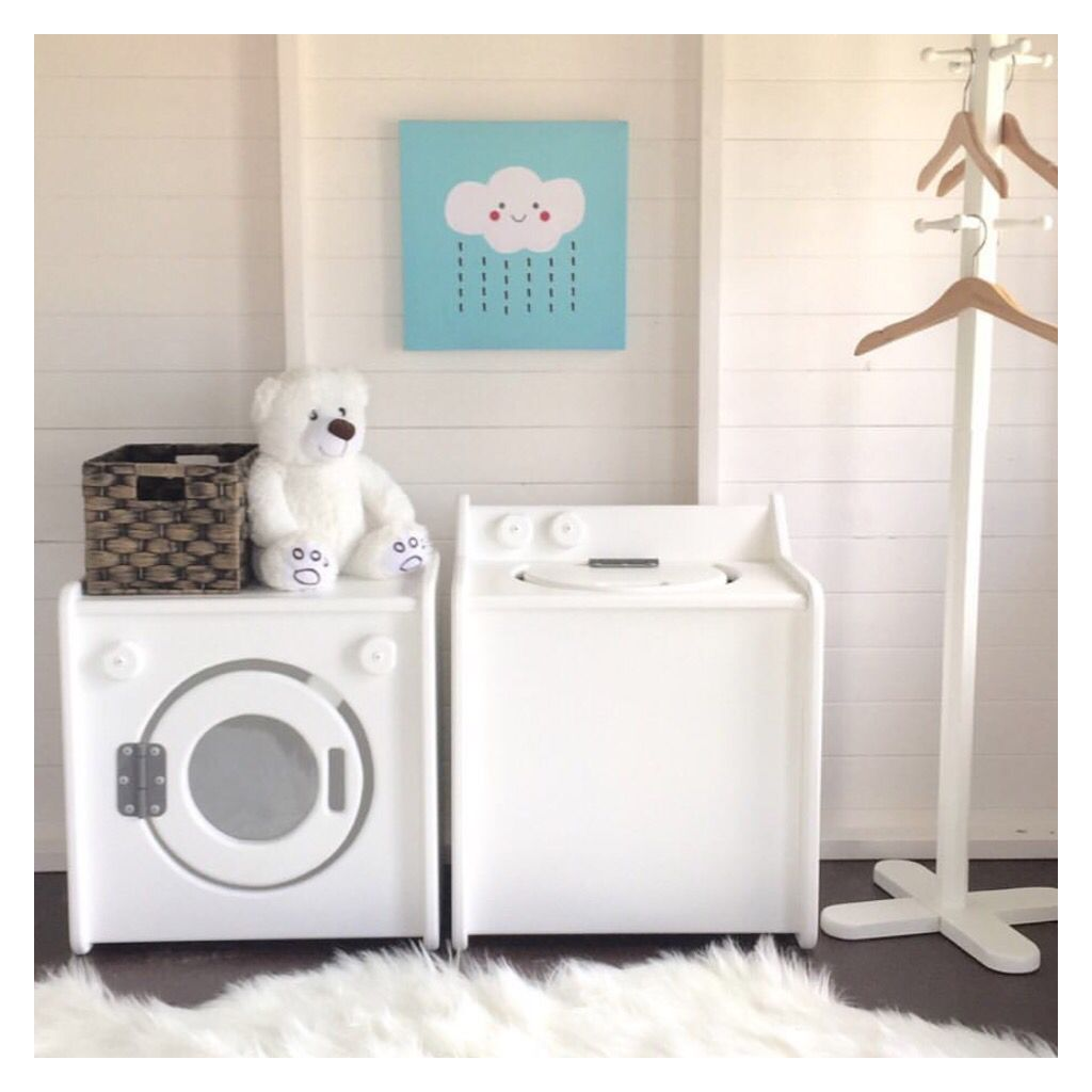 cubby house furniture. Beautiful Wooden Play Furniture, Cubby House Washing Machine And Dryer Set. Furniture Pinterest