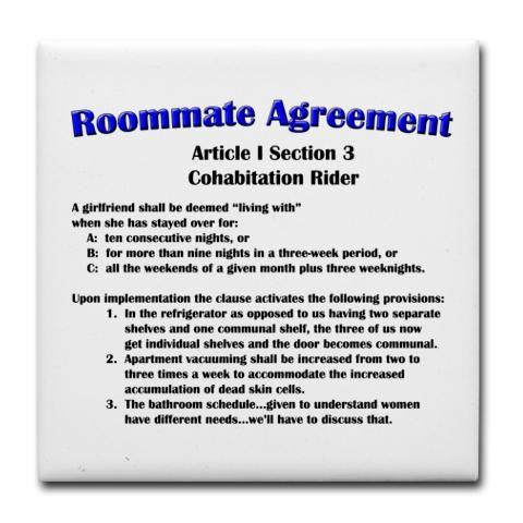 SheldonS Roommate Agreement  Big Bang Theory  D