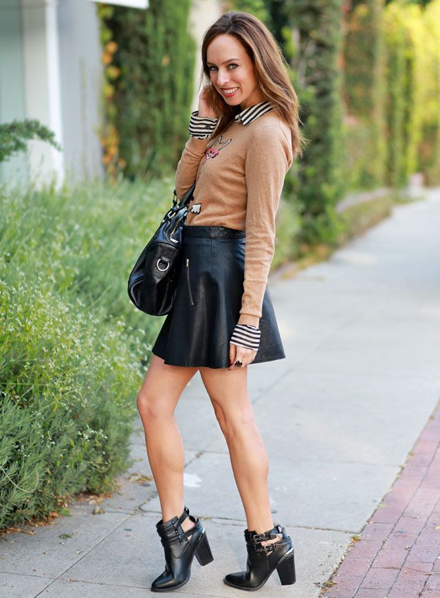 10 ways to wear Leather Skirt | Fall/Winter Style | Pinterest ...