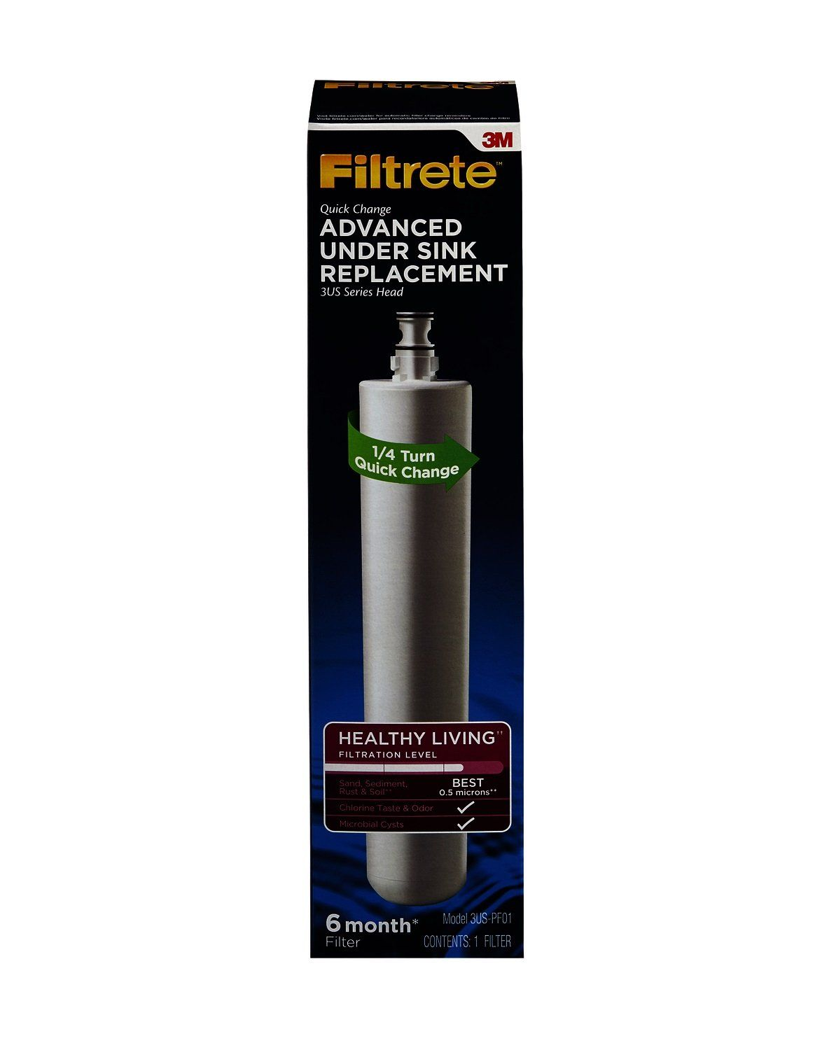 Filtrete Advanced Under Sink Quick Change Water Filtration Filter 6 Month Filter Reduces Microbial Cysts 0 5 Mi Inline Water Filter Under Sink Water Filtration