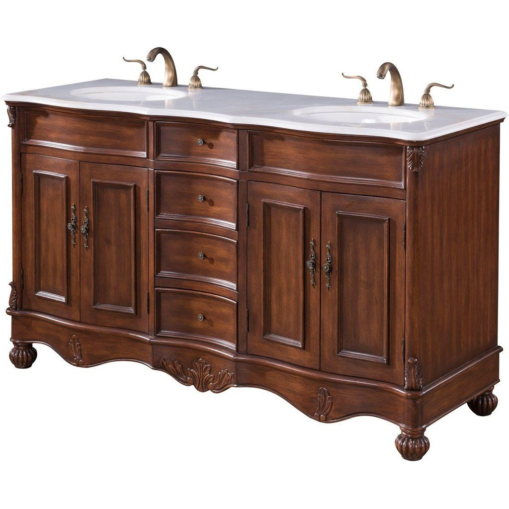 Windsor 60 X 35 4 Drawer 4 Door Vanity Cabinet Teak Finish Vf 1048 Double Vanity Bathroom Bathroom Vanity Base Bathroom Vanity