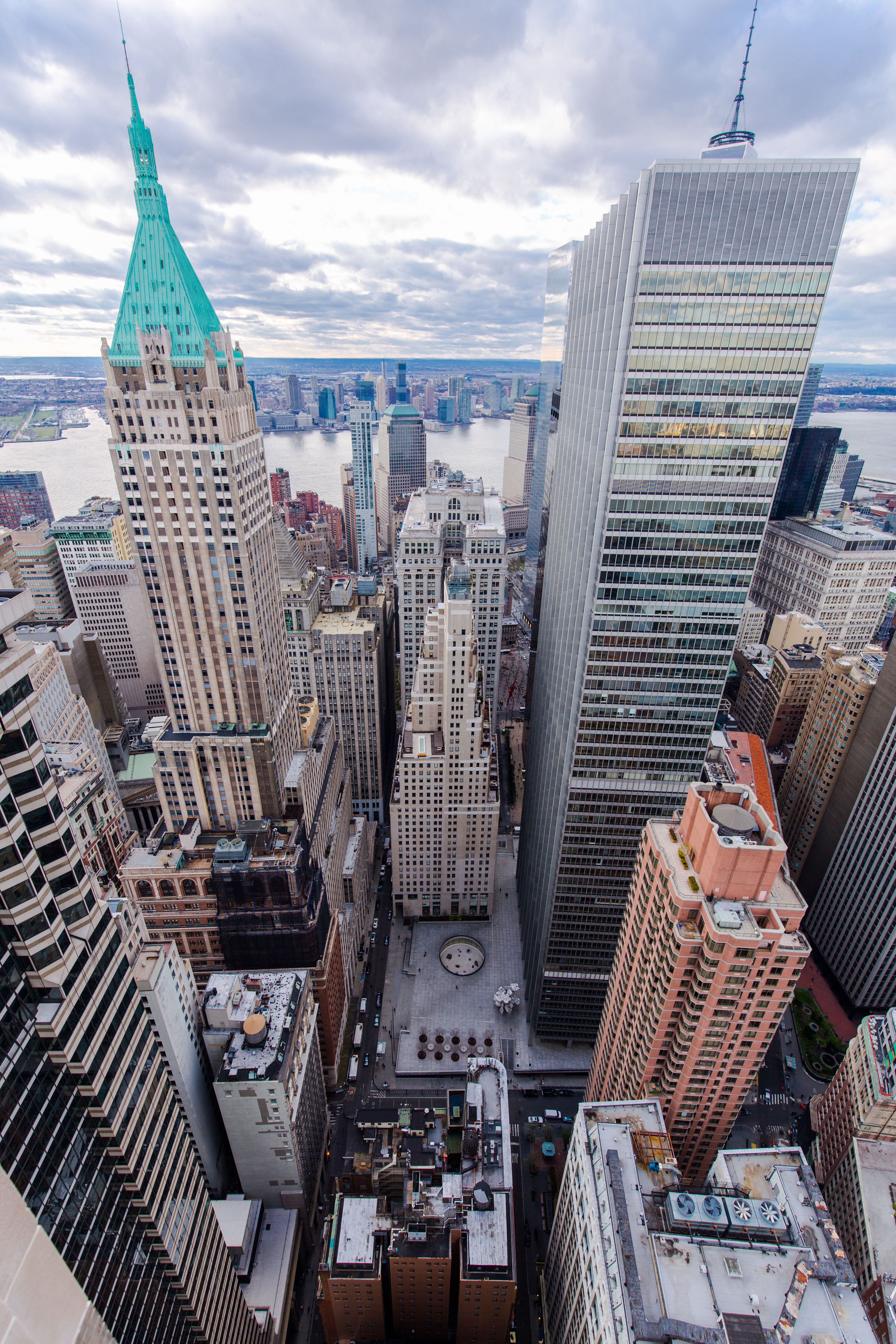 Downtown Manhattan Financial District Nyc A Beautiful View Of