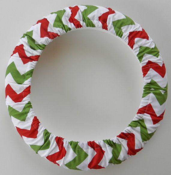 Red/ Green/White Medium Chevron Steering by EmbellishMePattyV, $19.00