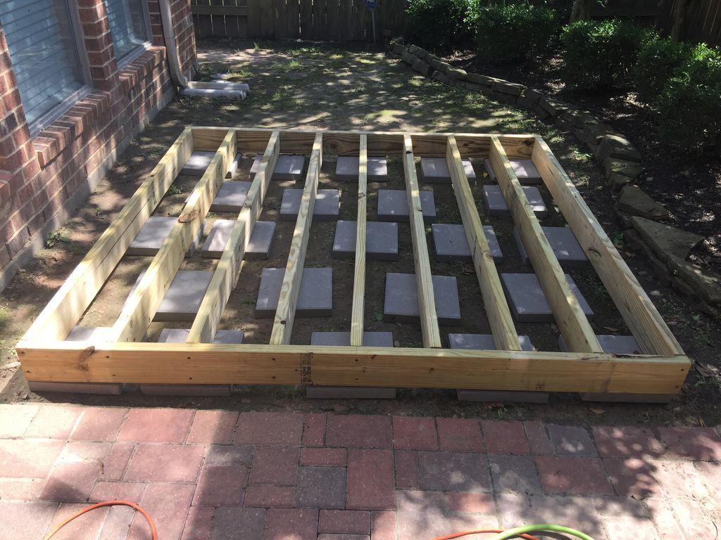 Simple Floating Deck Building A Floating Deck Diy Deck Floating Deck