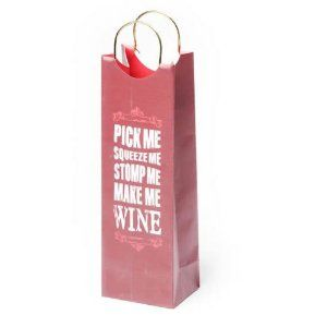 True Fabrications Make Me Wine Gift Bag By Truefabrications 5 59 High Quality 230 Gsm Paper Ribbon Handle And Tag Fits 1 Litre Sized