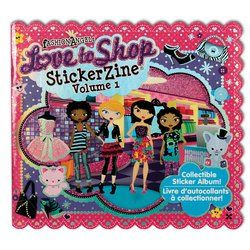 Fashion Angels Love to Shop StickerZine - Volume 1 by Fashion Angels. $4.75. 16 page sticker album & pack of 28 stickers. Sticker album measures approximately 6 inches by 5.5 inches.  One pack of stickers is included.  Other refill packs sold separately.  Age 5+