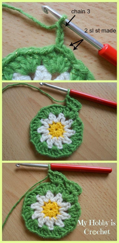 Crochet Daisy/Flower Coaster - Free Pattern with Tutorial