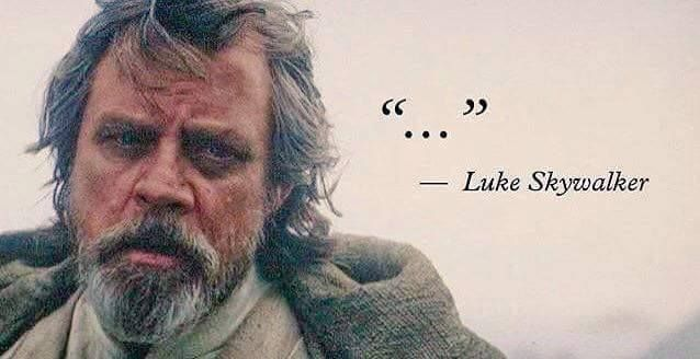 Inspirational Quote From Luke Skywalker Fandoms Star Wars Quotes