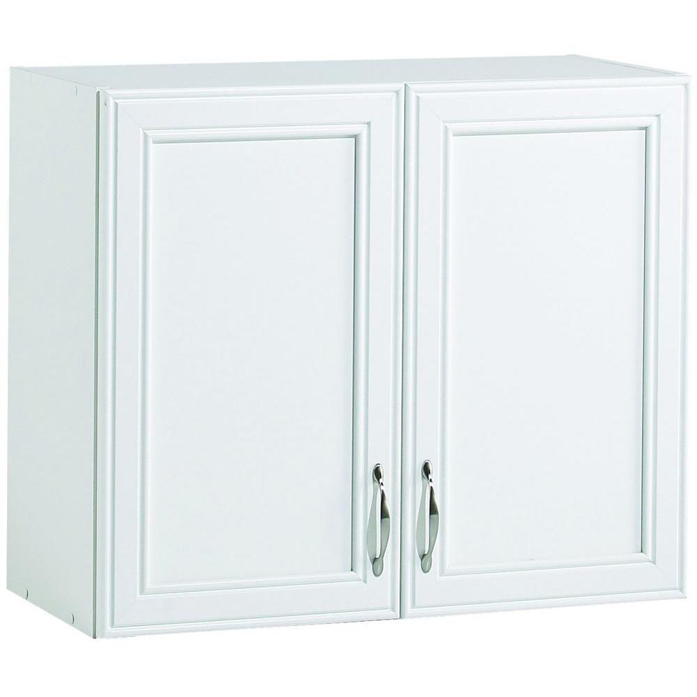 W 2 Shelf Laminate Wall Cabinet In White