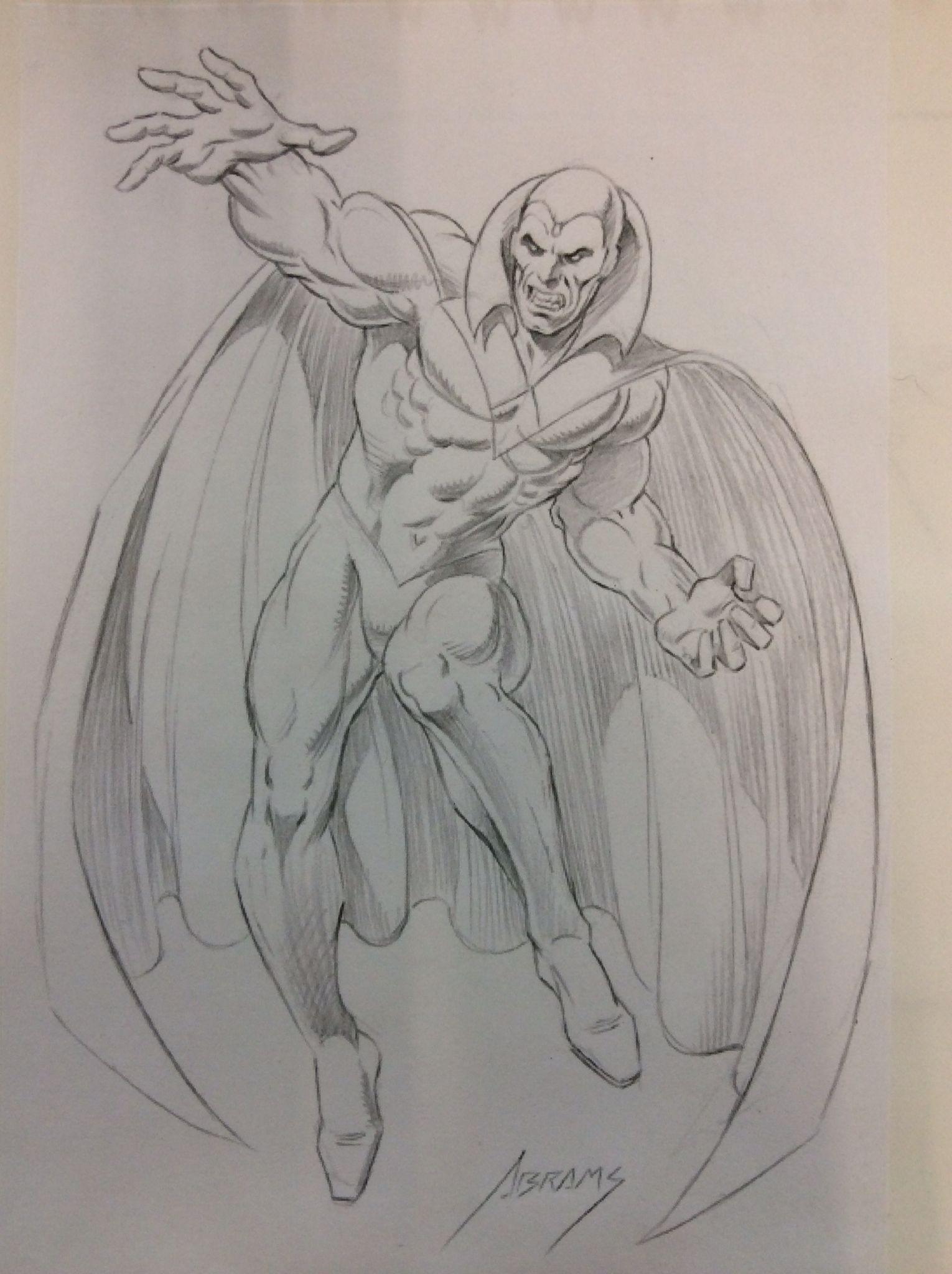 Vision full body sketch by abrams