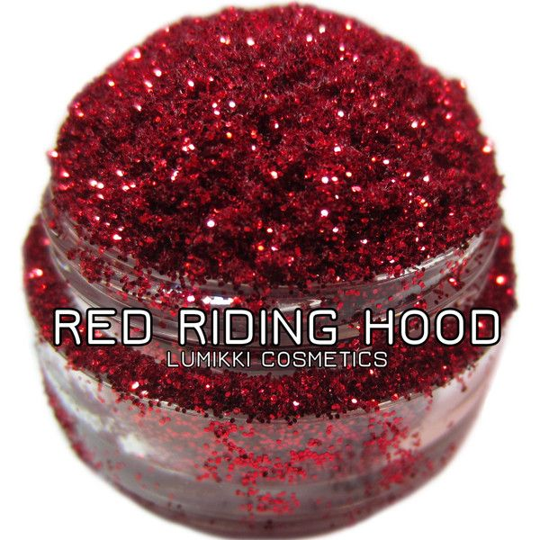 Red Riding Hood GLITTER 10 Gram Deluxe Size Jar Bright Blood Red... (€12) ❤ liked on Polyvore featuring beauty products, makeup, face makeup, eyeshadow, cosmetics, eyes and eye makeup remover