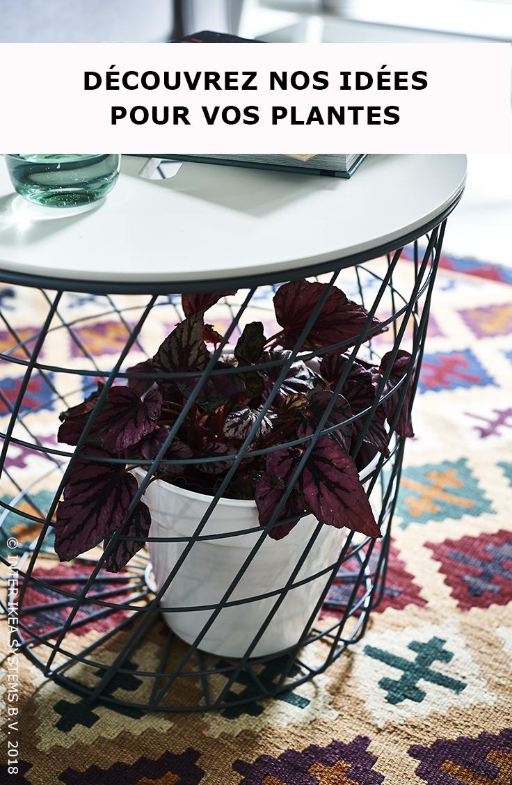 Des Plantes A La Maison Utilisez Les Pour Redonner Vie A Un Espace Vide Avec Une Explosion De Couleurs Et De Textures Kvistbro Table Planten Ikea Huisbezoek