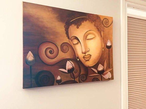 Buddha art, Buddha, Buddha Wall Art, Acrylic Buddha Painting, Buddha Decor, Buddha painting, Buddha meditation ,Yoga Decor, Buddha decor #buddhadecor