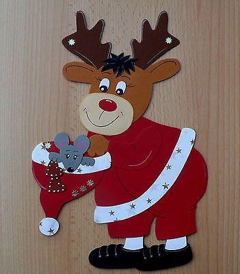 Fensterbild Aus Tonkarton Elch Mit Mutze Basteln Mit Tonpapier Weihnachten Bastelvorlagen Weihnachten Ausdrucken Weihnachtsmann Basteln